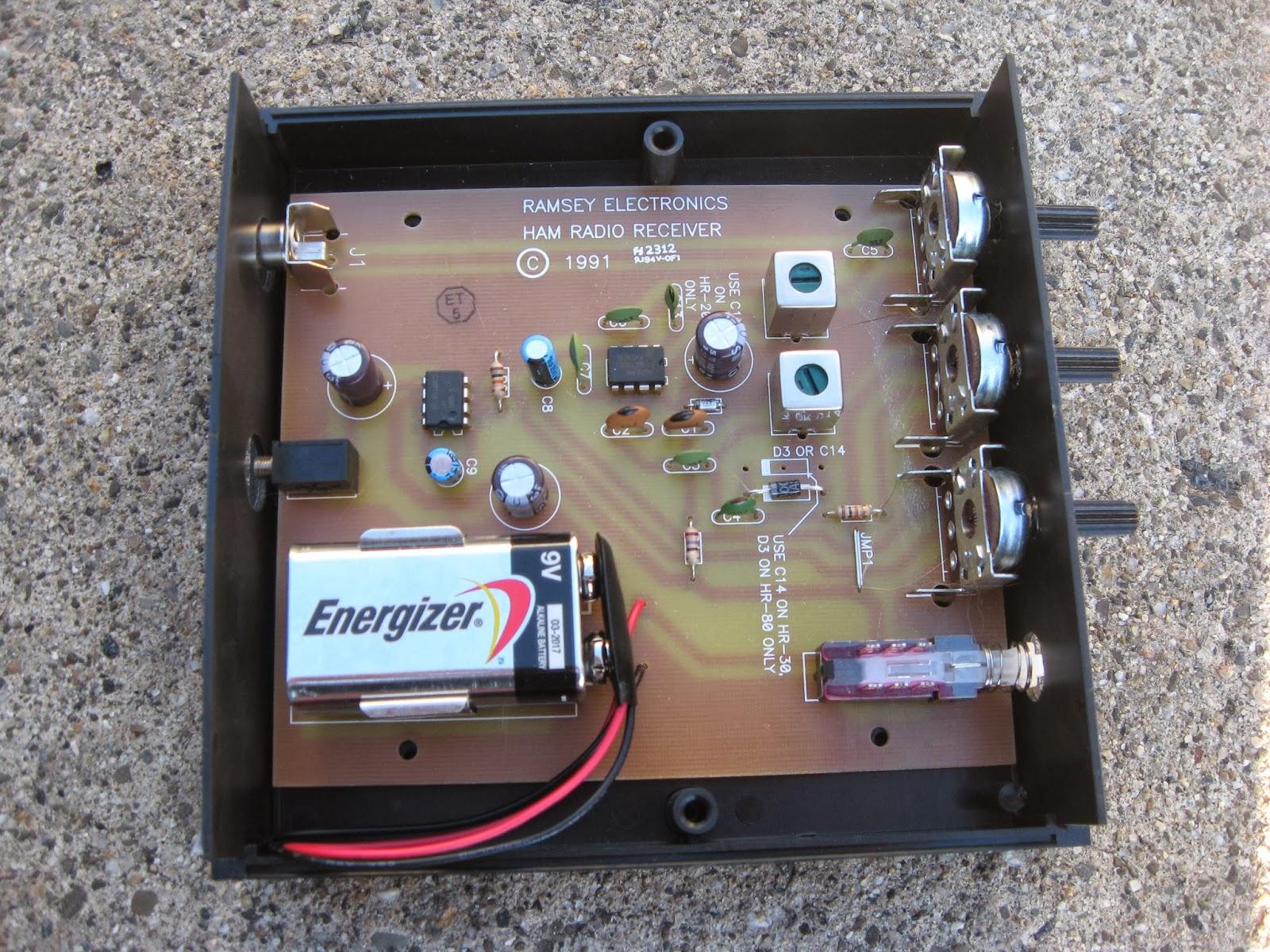 Easy Ham Receiver Using Integrated Circuit Audio Stage